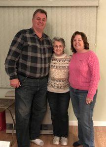 Kathy and Ray MacDonald, with Simone.